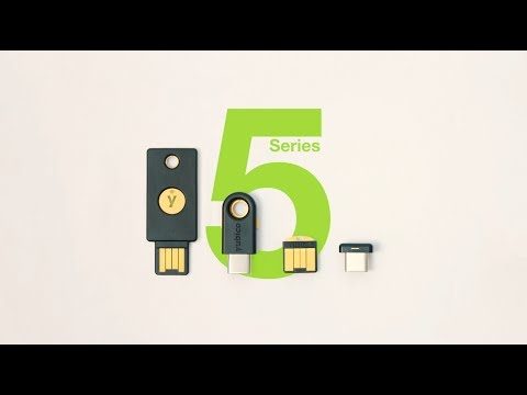 YubiKey 5 Series with New NFC and FIDO2 Passwordless Features