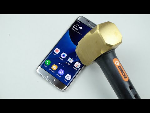 Samsung Galaxy S7 Edge Hammer & Knife Scratch Test