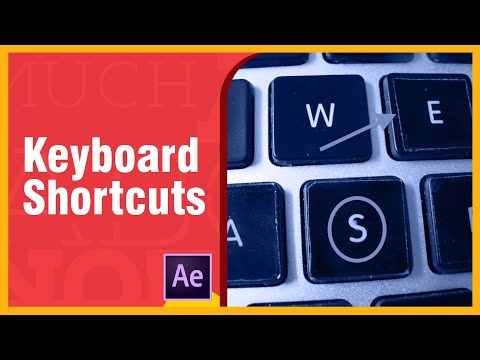 Top After Effects Keyboard Shortcuts - Tips and Tricks