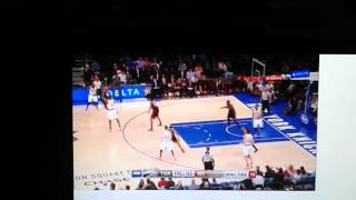 Jimmer fredette ' s first points as a NY Knick 2/22/16