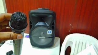Portable & Rechargeable Professional Speaker - GGMS8568 | Geepas speaker Unboxing