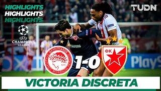 Highlights | Olympiacos 1 - 0 Estrella Roja | Champions League - J 6 - Grupo B | TUDN