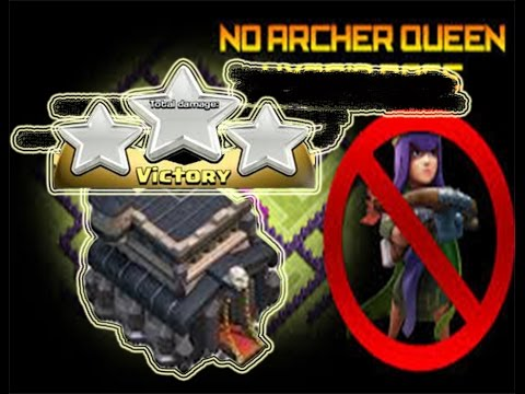 without Queen 3 Star Max TH9 | clash Of Clan