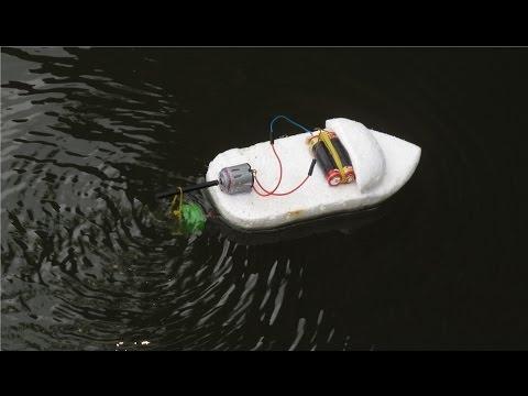 วิธีที่จะทำให้เรือไฟฟ้า |  เรือของเล่น
