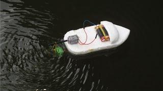 วิธีที่จะทำให้เรือไฟฟ้า    เรือของเล่น