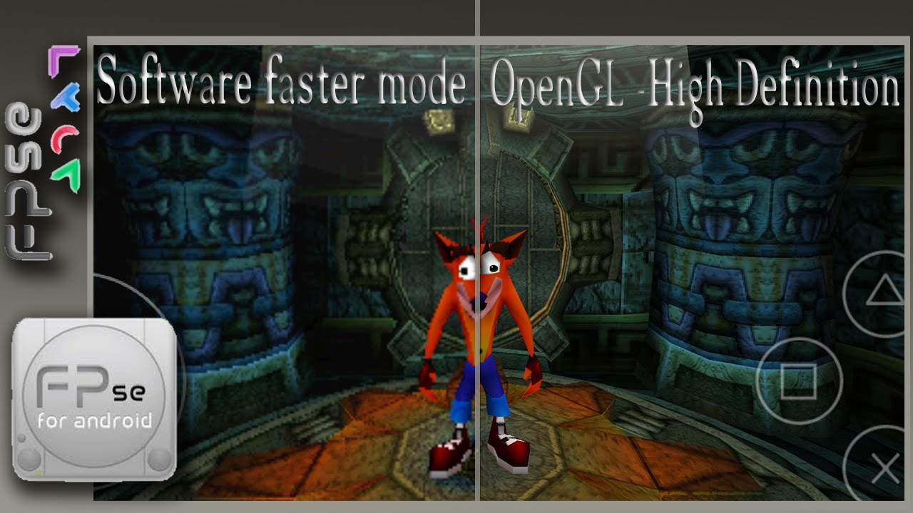 FPse, PS1 emulator with QHD resolution on Samsung Galaxy Note 4