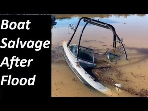 Boat Salvage After Flood