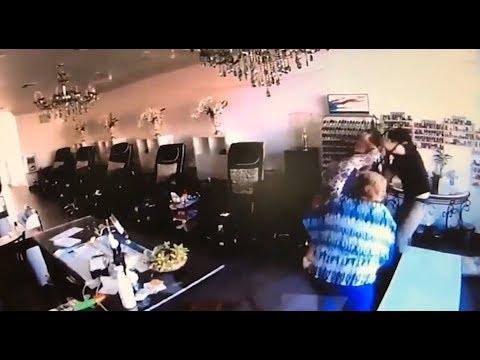 Women take down attacker in nail salon