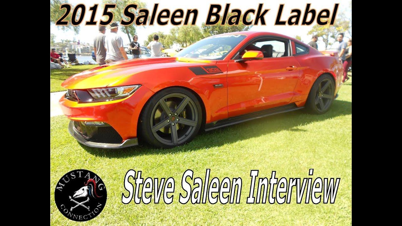 2015 saleen black label mustang steve saleen interview ponies at