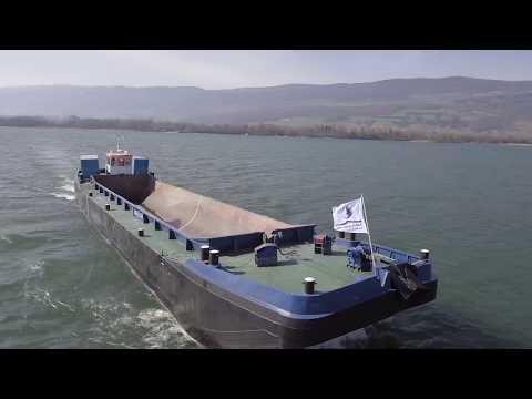 Split Hopper Barge Baars 335 m3 propelled and dismountable for transport
