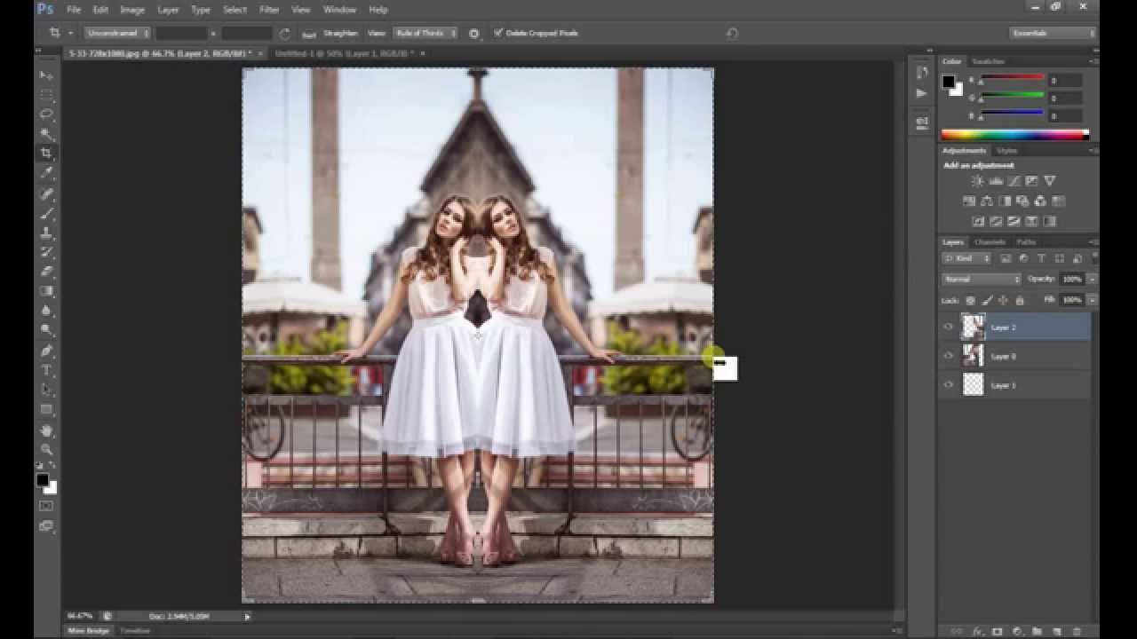 mirror photo photoshop
