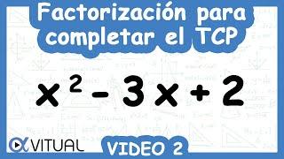 Factorización para completar el trinomio cuadrado perfecto ejemplo 2