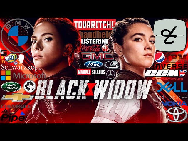BLACK WIDOW product placement top 10 brands