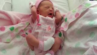 Newborn Baby Girl Early Wake Up & Stretching