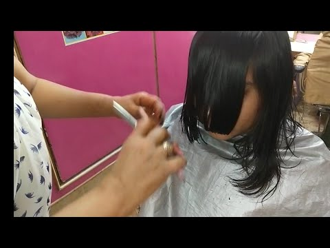 Front Layers and Back Straight Hair Cut/Girl Short Layers Hair cut/ layer hair cut full tutorial