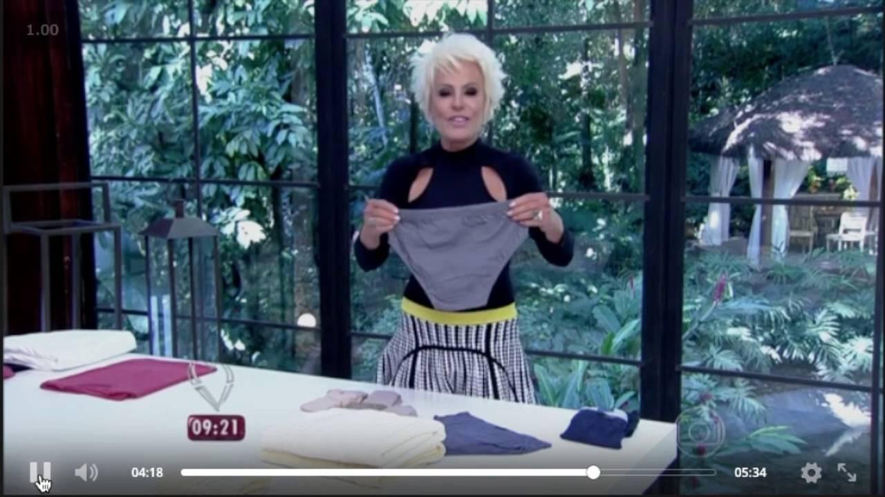 4d191e86c The day that I teached Ana Maria Braga to fold underwear - Program Mais  Você - Priscila Sabóia