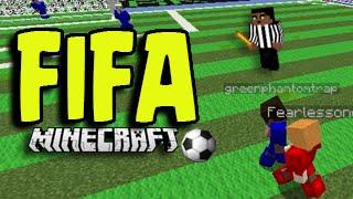 Minecraft FIFA Soccer / (Football) World Cup Server Mini-Game Match!