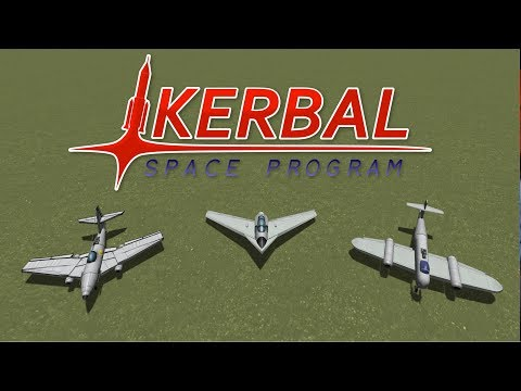 Fighter Jet Showdown WW2 (Part 2/2) - Jet Fighters - Kerbal Space Program