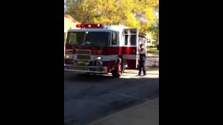 Fire Truck Ride To School