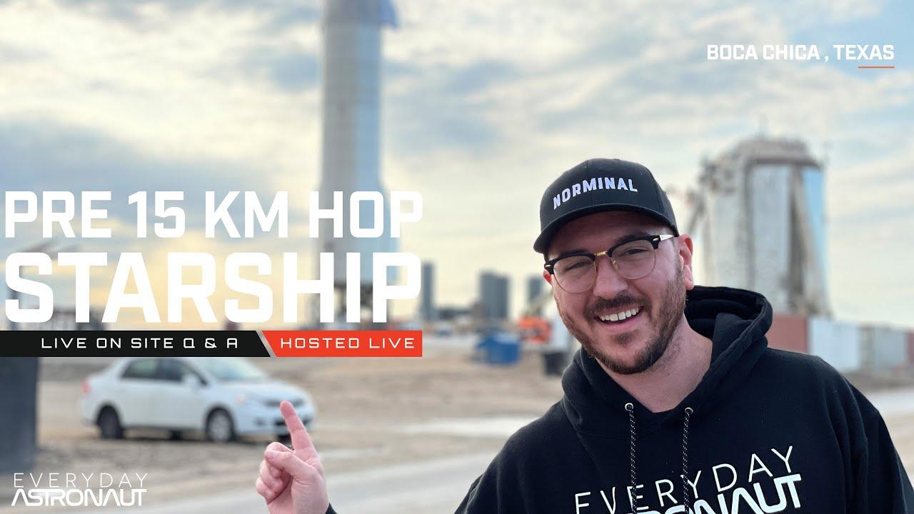 Pre 15KM flight Q&A [LIVE on site!]