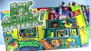 Rise of the Teenage Mutant Ninja Turtles Epic Sewer Lair Playset 2018