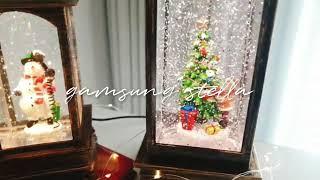 감성스텔라 LED 크리스마스 오르골 스노우볼 크리스탈볼…