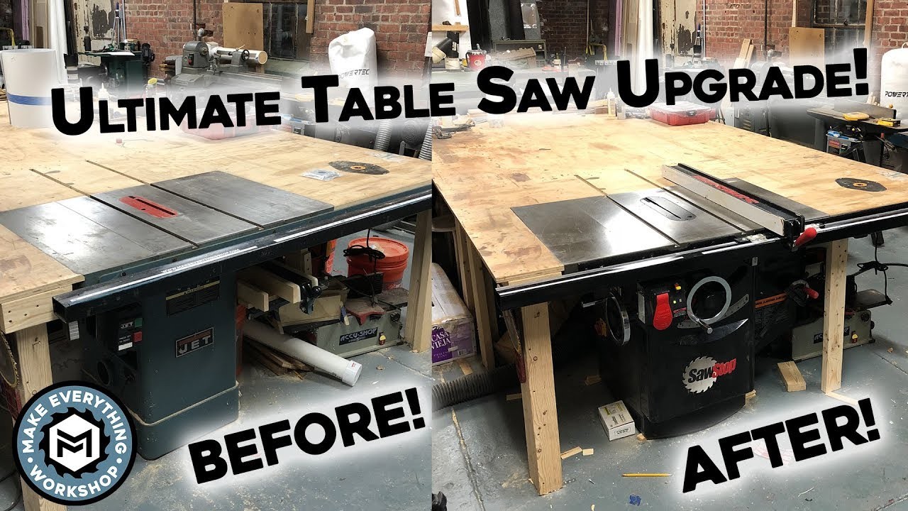 Setting Up My Dream Table Saw 5hp Sawstop Youtube