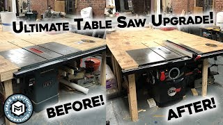 Setting Up My Dream Table Saw! 5HP Sawstop!
