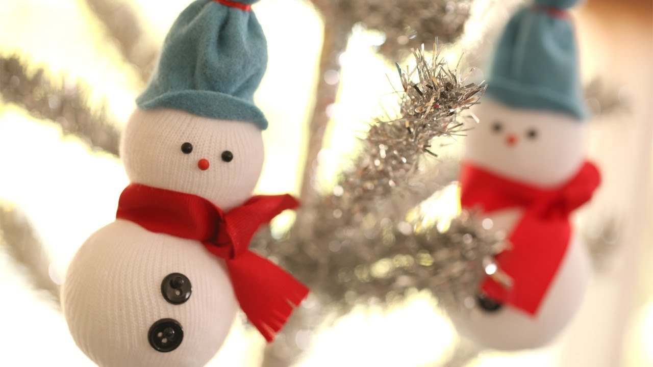 diy snowmen ornaments youtube - Snowman Christmas Tree Decorations