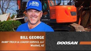 Video still for Doosan Customer Testimonial: Bill George