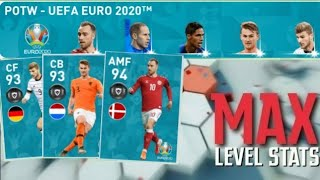 Max Stats & Rating Of POTW:UEFA EURO 2020 | PES 2020