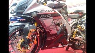 Modifikasi Honda CBR 150R K45 Kekar Bergaya Moge