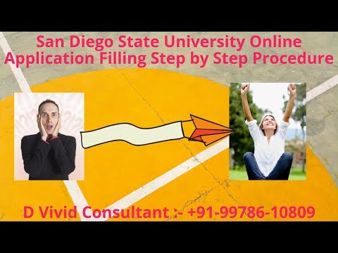 San Diego State University Online Application Filling Step by Step Procedure