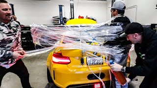 SHRINK WRAPPING ALEX CHOI TO HIS CAR PRANK! *EMELIA VLOG*