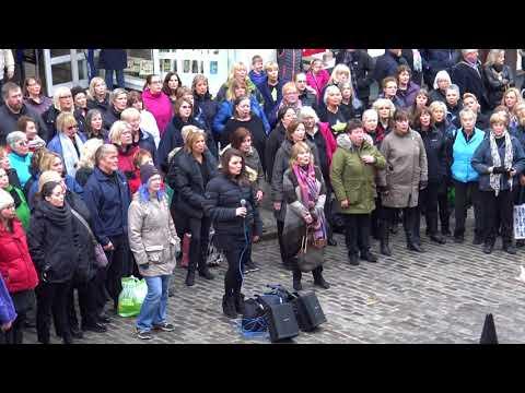 Rock Choir Flash Mob Guildford 10th Feb 2018