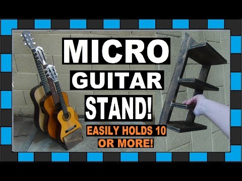 How To Build A Guitar Stand! // Holds As Many Guitars As You Want!