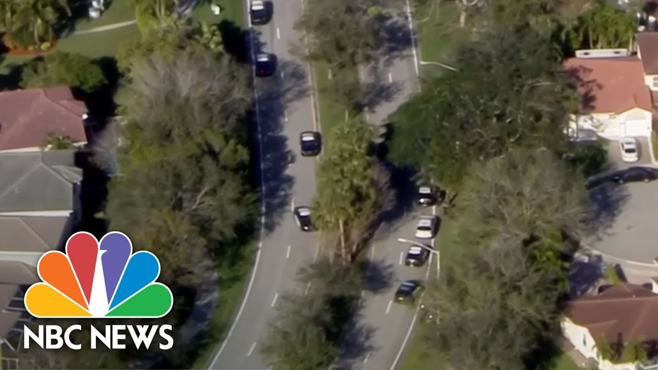 Florida School Shooting: Video Shows Students Hiding In Classroom While Gunshots Blast | NBC News