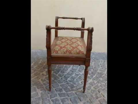 Panchetta antica in legno di noce intagliato mobili camera da letto camerette youtube - Camera da letto antica ...