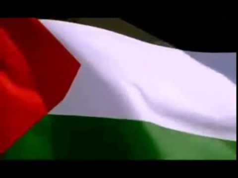 النشيد الوطني الفلسطيني مع العلم Palestinian National Anthem & Flag