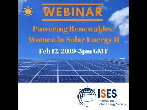 ISES Webinar:  Powering Renewables - Women in Solar Energy II
