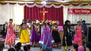 P.C . Church youths dancing for Pr.John JebaRaj song... medley...