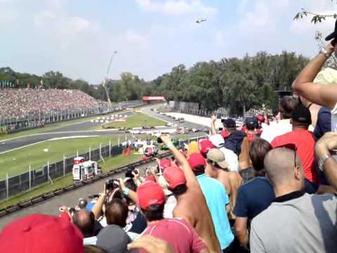 F1 Monza 2011 Start (tribune 6B)