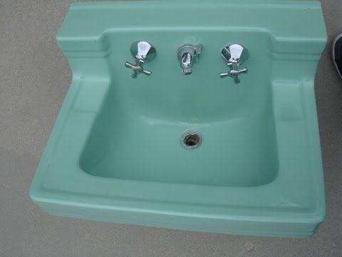 vintage wall mount bathroom sink - youtube