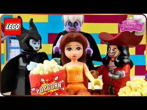 ♥ LEGO Disney Princess LAZY BELLE Watching TV (Enchanted Guardians, Pie Baking, Christmas Nightmare)