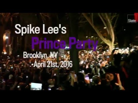 "Crowd Sings ""Purple Rain"" at Spike Lee's Prince Party"