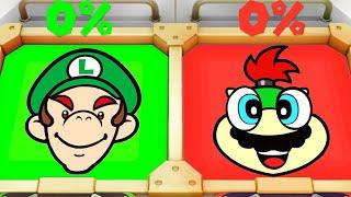 Super Mario Party MiniGames - Luigi Vs Bowser Jr Vs Mario Vs Yoshi (Master Cpu)