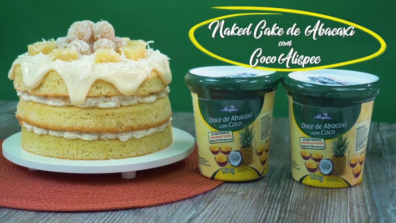 NAKED CAKE DE NINHO COM ABACAXI - YouTube