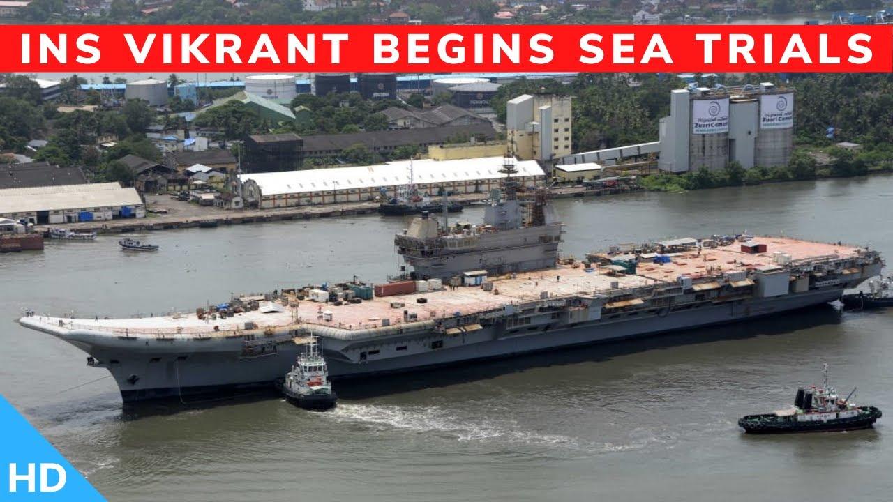 🔴INS Vikrant Starts Sea Trials