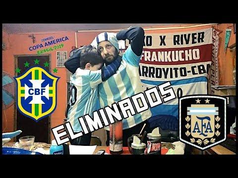 Argentina vs Brasil | Reacciones de un Hincha Argentino | Copa America 2019 | Semifinal