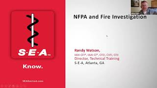 S#16 DCARI NFPA 921 2021 edition Updates/Changes Randy Watson